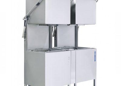 Doorschuif vaatwasmachine met voorwasmachine